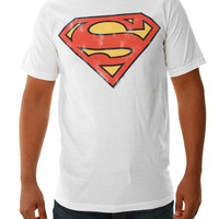 Junk Food Clothing Men's Distressed Superman Short Sleeve T-Shirt