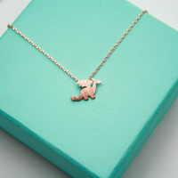 Rose Gold Dainty little Dragon Necklace. Harry Potter Dragon Necklace, Game of Thrones Dragon Lover Necklace, Tiny Dragon Pendant