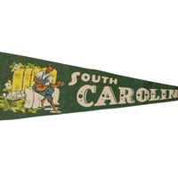 South Carolina Vintage Felt Flag