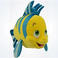 Disney Parks Authentic The Little Mermaid Flounder Plush New With Tags