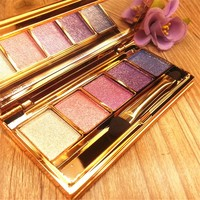 5Colors Flash Diamond Eyeshadow Nude Makeup Pallete Waterproof Luminous Glitter Cosmetics Eye Makeup Tools maquiagem sombra