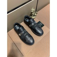 Philipp plein  Trending Men Women's Black Leather Side Zip Lace-up Ankle Boots Shoes High Boots