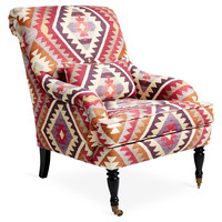 Oxford Aztec Chair, Magenta, Accent & Occasional Chairs