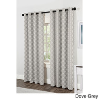 Baroque Grommet Top 84 inch Curtain Panel Pair   Overstock.com Shopping - The Best Deals on Curtains