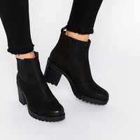 Vagabond Grace Black Leather Ankle Boots