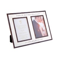"""The Best Thing To Hold Onto, Double 5""""x 7"""" Copper & Glass Photo Frame"""