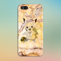 Pikachu Yellow Marble x Stone Phone Case Texture iPhone 6 iPhone 6 Plus Tough iPhone Case Galaxy S7 Samsung Galaxy Case Printed CASE ESCAPE