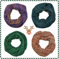 Avalanche Warning Knit Infinity Scarf