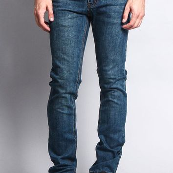 Premium Denim Skinny Fit Jeans (Desert Blue)