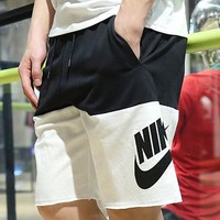 NIKE men's sport casual classic solid color collared knickers running sports shorts