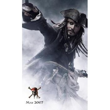 Pirates Of The Caribbean Johnny Depp Movie Poster T-Shirt