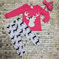 Pink Deer 3pc Outfit