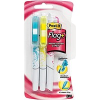 3M™ Scotch® Ballpoint Post-it Flag + Writing Tools Flag + Highlighter and Pen, Assorted, 3/Pack