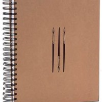 Wire Bound Sketch Book with Paintbrush Icons