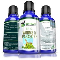 Worms & Parasites Remedy BM43 (30mL) 30-day Parasite Cleanse for Humans