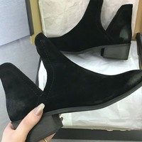 MATISSE Pronto Black Suede Ankle Booties