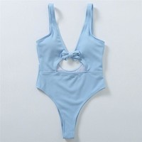 Summer Comfortable High Quality Ladies Hollow Out Sexy Backless Swimwear [485309022262]