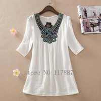 Women's Summer Dresses Embroidery  plus size Dress