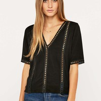 Pins & Needles V-Trim Tee - Urban Outfitters