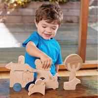 Forest Jumble Wooden Puzzle and Block Set