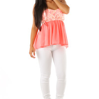 Place For Everything Top: Neon Coral