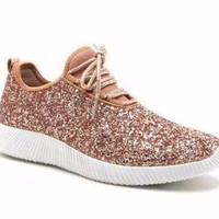 Boutique rose gold sneakers