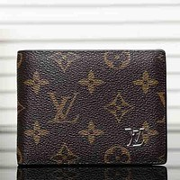 Louis Vuitton LV  Fashion Men Leather Purse