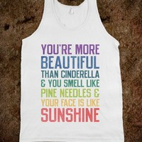 You're More Beautiful Bridesmaids Quote (Tank) - Ladies & Gentlewoman