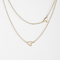 Urban Outfitters - Heart It Double-Layer Necklace