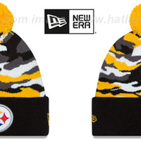 Steelers CAMO CAPTIVATE Knit Beanie Hat by New Era