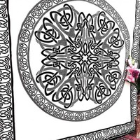 White Black Psychedelic Meditation Indian Mandala Tapestry Wall Hanging Decor