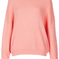 Knitted Quilted Jumper Jumper - Topshop USA