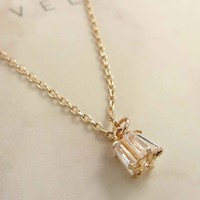 Caged Crystal Pendant Necklace