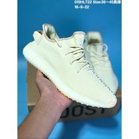 KUYOU A282 Adidas Yeezy 350 V2 Real Boost Basf Knit Running Shoes Yellow