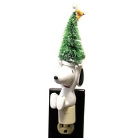 Christmas SNOOPY TREE NIGHT LIGHT Polyresin Peanuts Christmas 113502