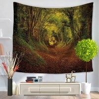 Home Textile 3D Jungle Landscape Wall Tapestry Art Decor Fashion Wall Hanging Table Cloths Indian Sheet Door Curtain Bohemian