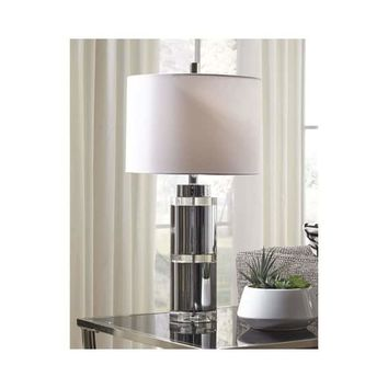 Makram Clear and Chrome Finish 27 Inch Table Lamps Set of 2 | Overstock.com Shopping - The Best Deals on Lamp Sets