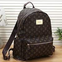 Louis Vuitton LV Woman Leather Fashion Backpack Daypack Bookbag
