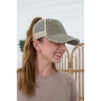 Out The Door Hat - Olive