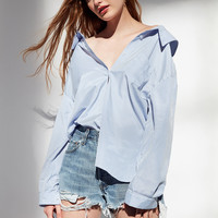 Jovonna London Off-The-Shoulder Button-Down Blouse | Urban Outfitters