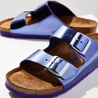 Birkenstock Metallic Arizona Soft Footbed Slide | Urban Outfitters