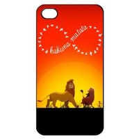 Infinity Lion King Hakuna Matata Hard Back Shell Case Cover Skin for Iphone 4 4g 4s Cases - Black/white/clear