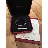 Authentic CARTIER 18k White Gold Love Bracelet Size 17 $7250Rerailed