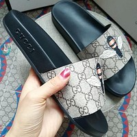 Gucci men and women Fashion Slippers-8