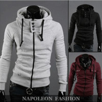Winter Hoodies Casual Hats Men's Fashion Men Jacket [6528649603]