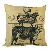 Farm Life | Pillow Cover | 18 x 18 | Home Decor | Primitive Decor | Farmhouse | Rustic Farmhouse