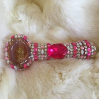Pink bedazzled pipe