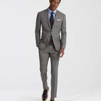The Mayfair White Label Suit in Grey Blue Plaid