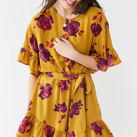 UO Suddenly Spring Ruffle Tie Dress | Urban Outfitters