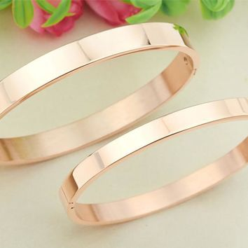 New Arrival Shiny Jewelry Stylish Titanium Accessory Couple Bangle [10985361863]